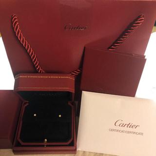 カルティエ(Cartier)のカルティエ ディアマンレジェ イヤリングXS イエローゴールド(ピアス)