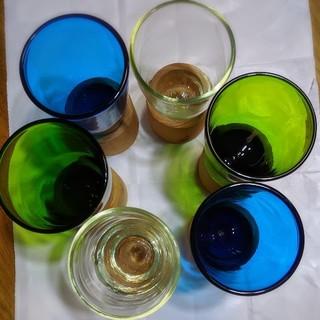 フェリシモ(FELISSIMO)の吹きガラス グラス 6客セット(グラス/カップ)