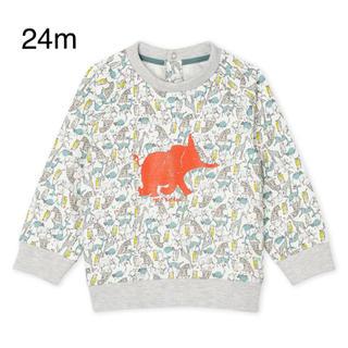 プチバトー(PETIT BATEAU)のプチバトー  スウェットプリント長袖プルオーバー(Tシャツ/カットソー)