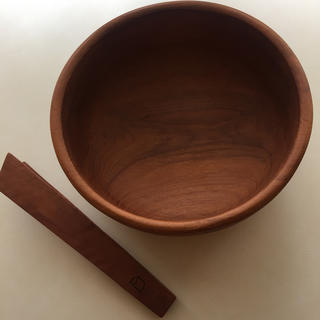 スタディオクリップ(STUDIO CLIP)の木製 ボウル プレート トング付き(食器)