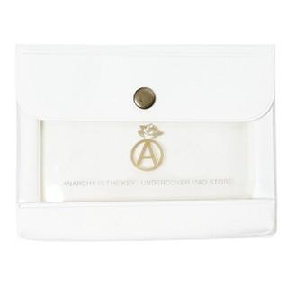 アンダーカバー(UNDERCOVER)のUNDERCOVER MAD STORE アンダーカバー  パスケース 白 新品(折り財布)