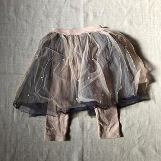 ボンポワン(Bonpoint)の韓国子供服 チュール レギンス スカッツ(スカート)