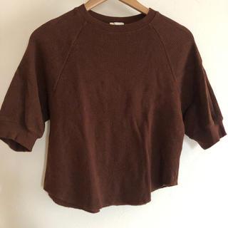 ジーユー(GU)のレディース GU ワッフルトップス(Tシャツ(半袖/袖なし))