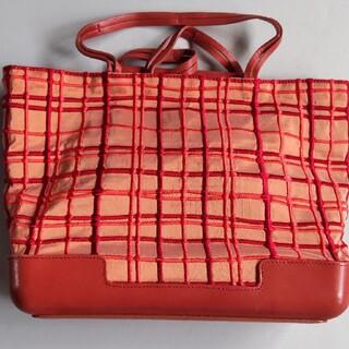 ボッテガヴェネタ(Bottega Veneta)の未使用 希少 BOTTEGA VENETA コード刺繍トートバック(トートバッグ)