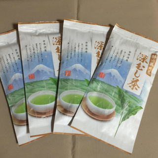 送料込⭐️6480円 4本 掛深むし茶(茶)