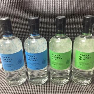 ニッカウイスキー(ニッカウヰスキー)のニッカ カフェジン、カフェウォッカ 各2本 4本セット(蒸留酒/スピリッツ)