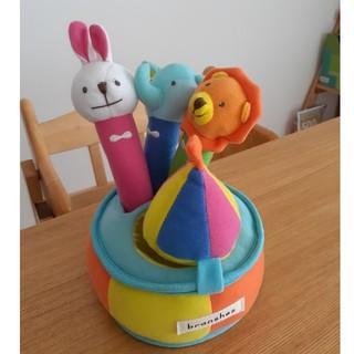 ブランシェス(Branshes)の赤ちゃんおもちゃ アニマルガラガラセット ブランシェス(がらがら/ラトル)