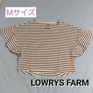 ローリーズファーム(LOWRYS FARM)の(古着)LOWRYS FARM ボーダー トップス Mサイズ(カットソー(半袖/袖なし))