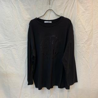 アグノスト(AGNOST)のAGNOST アグノスト ロゴゆるロンT シンプルロンT ブラック ほぼ新品(Tシャツ(長袖/七分))