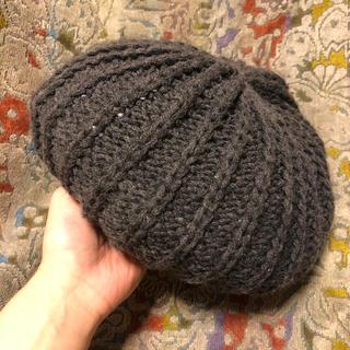 カシラ(CA4LA)の【CA4LA カシラ】ニットベレー帽 ベレー帽 チャコールグレー(ハンチング/ベレー帽)