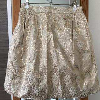 カレンウォーカー(KAREN WALKER)のKAREN WALKER 刺繍 ゴールド スカート パーティ(ひざ丈スカート)