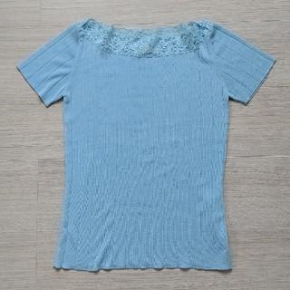 オリゾンティー(ORIZZONTI)のオリゾンティ社    レース付サマーニット(カットソー(半袖/袖なし))