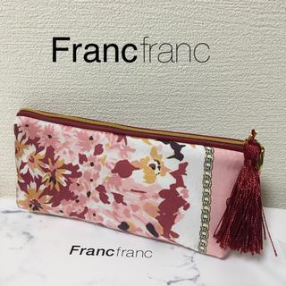 フランフラン(Francfranc)のフランフラン ⭐️ペン&アイグラスケース タッセル付き ピンク(ペンケース/筆箱)