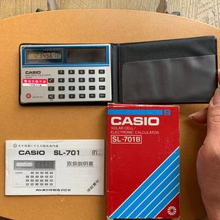 カシオ(CASIO)のCASIO 電卓 昭和レトロなソーラー電池(その他)