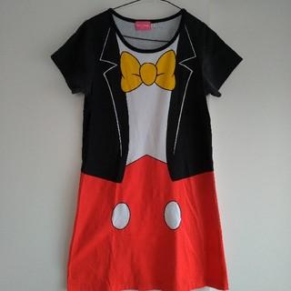ディズニー(Disney)のまーさま専用 値下げ!TDL ミッキーマウス ワンピース Lサイズ(ミニワンピース)