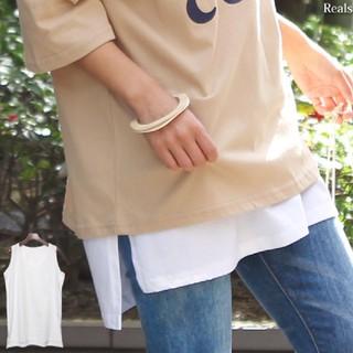 レイヤード タンクトップ(カットソー(半袖/袖なし))