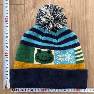 サンカンシオン(3can4on)のカエルのニット帽【サンカンシオン】(帽子)