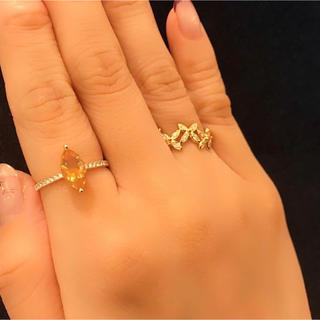 クアラントット ダイヤモンドオレンジオパールリング(リング(指輪))