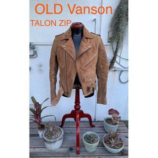 バンソン(VANSON)のVanson オールド バンソン Talon zip ダブルライダース 36(ライダースジャケット)