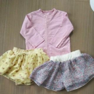 ベルメゾン(ベルメゾン)の80㎝ 1枚450円 ベルメゾン カーディガン スカート キュロット(スカート)