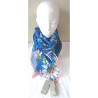 エピス(EPICE)のSALE EPICE 青い花柄 ストール 正方形 コットン80%×シルク20%(ストール/パシュミナ)