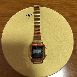 アガット(agete)のagete デジタル 時計 週末値下げ(腕時計(デジタル))