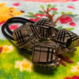 バーバリー(BURBERRY)の希少‼️バーバリー チューリップ型のヘアゴム 2つセット(ヘアゴム/シュシュ)