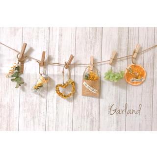 X.ミモザドライフラワーガーランド♡スワッグ♡インテリア雑貨、観葉植物、造花(ドライフラワー)
