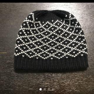 グッチ(Gucci)のグッチニット帽 黒(ニット帽/ビーニー)