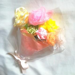 リボンフラワーの花束[mini]やわらかmixカラー 母の日ギフトおすすめ(その他)
