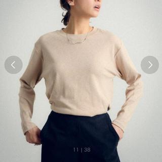 アンティローザ(Auntie Rosa)のスラブシアーロングT  モカ アンティローザ (Tシャツ(長袖/七分))