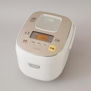 アイリスオーヤマ(アイリスオーヤマ)のIH炊飯器 5.5合炊き ホワイトシャンパンゴールド(炊飯器)