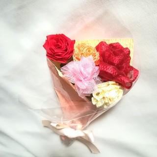 リボンフラワーの花束[mini]母の日 赤バラmix 母の日ギフトおすすめ(その他)