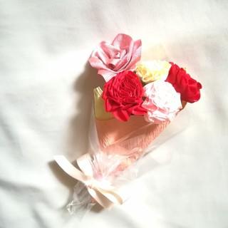 リボンフラワーの花束[mini]母の日 ピンクバラmix 母の日ギフトおすすめ(その他)