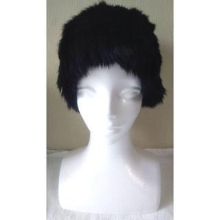 婦人用ファーハット 可愛いブラック フリーサイズ(その他)