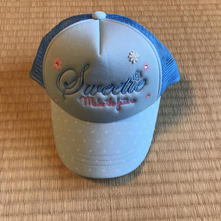 サンカンシオン(3can4on)のキャップ 商品 ジュニア サックス 水色(帽子)