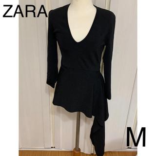 ザラ(ZARA)の新品 ZARA  デザイン トップス ニット カットソー M(ニット/セーター)