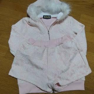 アンズ(ANZU)のストキャバ 花柄ピンク色ズボンつき(ミニワンピース)