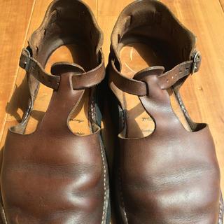 アウロラ(AURORA)のオーロラシューズ 24センチ ブラウン(ローファー/革靴)