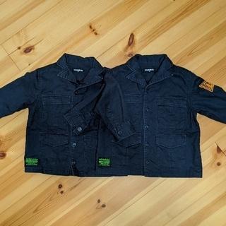 クレードスコープ(kladskap)のkladskap ワークシャツ ネイビー 2枚セット(ジャケット/コート)
