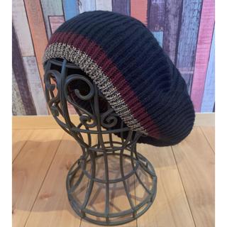 ザラ(ZARA)のZARA☆ネイビーベレー帽(ハンチング/ベレー帽)