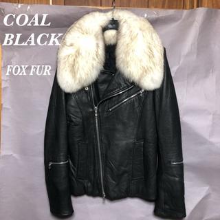 コールブラック(COALBLACK)のCoal Black ファー付レザーライダース S 約30万!/コールブラック(ライダースジャケット)