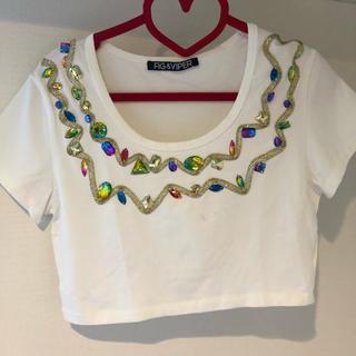 フィグアンドヴァイパー(FIG&VIPER)のfig&viper ビジューショートTシャツ(Tシャツ(半袖/袖なし))