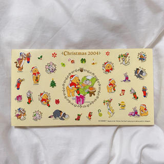 クマノプーサン(くまのプーさん)のプーさん クリスマス メモ帳 2004(ノート/メモ帳/ふせん)