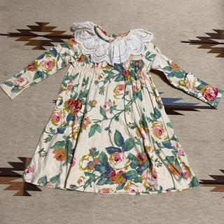 アンバー(Amber)のワンピース 韓国子供服 花柄ワンピ(ワンピース)