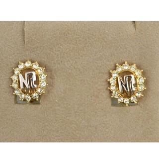 ニナリッチ(NINA RICCI)の【未使用品】NINA RICCI ニナリッチ NRロゴ イヤリング ストーン(イヤリング)