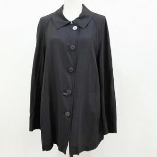 シャネル(CHANEL)のCHANEL :ロゴボタン付き ナイロン ジャケット コート ブラック(トレンチコート)