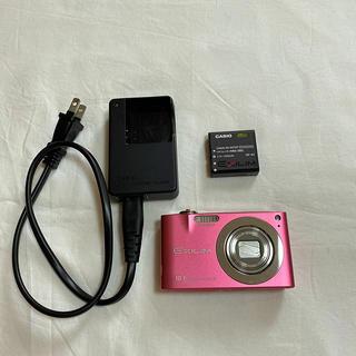 カシオ(CASIO)のデジタルカメラ casio EX-Z100  ピンク 充電器付き(コンパクトデジタルカメラ)