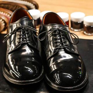 オールデン(Alden)の【お値引き応相談】US7 オールデンプレーントゥ コードバン黒(ドレス/ビジネス)
