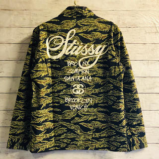 STUSSY - STUSSY … Tiger camo Coach jacket